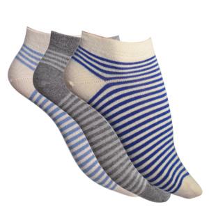 Socquettes courtes coton bio Rayures Bicolores