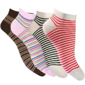 Socquettes coton peigné à rayures Bonnes affaires