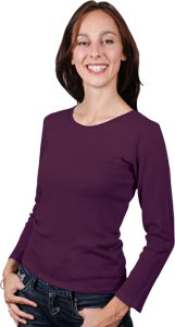 Chemise laine manches longues col Rond
