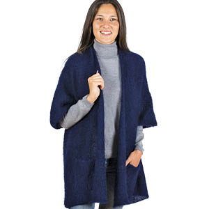 Veste laine mohair longue bonnes affaires - Missègle: fabricant de gilet en laine Made in France