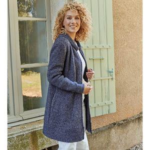 Veste laine zippée longue Yack